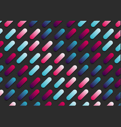 abstract pink and blue gradient color rounded vector image