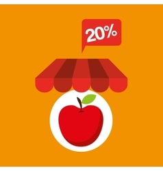 Apple discount shop online icon vector