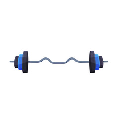 Barbell fitness and sports equipment vector