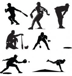 Baseball poses vector