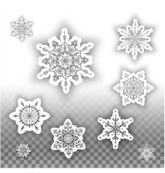 Beautiful snowflakes set vector