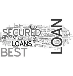 Best secured loans better than the best text word vector