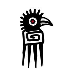 Bird icon aztec vector