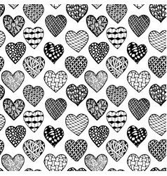 Black and white seamless background hand drawn vector
