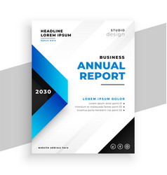 blue geometric annual report presentation vector image