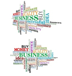 Business tag cloud vector image