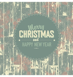 Chmas vintage card design vector