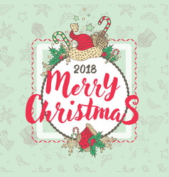 christmas holiday card vector image