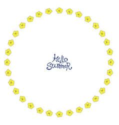 Circle floral frame vector