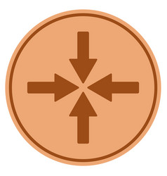 collide arrows bronze coin vector image