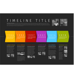 colorful infographic timeline report template vector image
