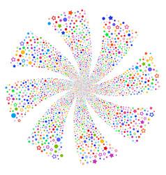 Confetti stars fireworks swirl rotation vector