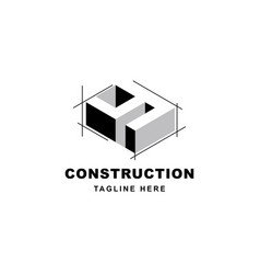 Construction logo design with letter y shape icon vector