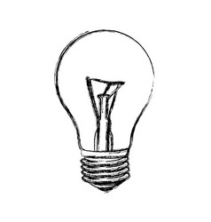 contour bulb icon image vector image