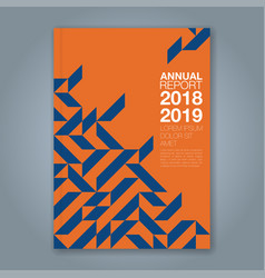Cover annual report 867 vector