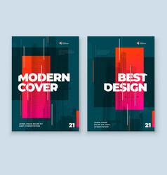 Dark brochure design a4 cover template for vector