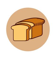 Delicious slice bread isolated icon vector