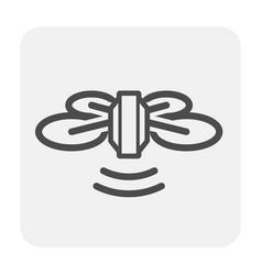 Drone icon black vector