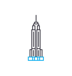 Empire state building linear icon concept empire vector