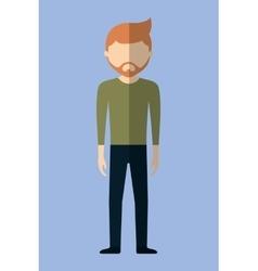 Faceles male avatar icon image vector