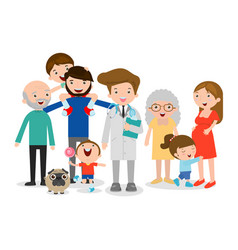 family doctor big family vector image