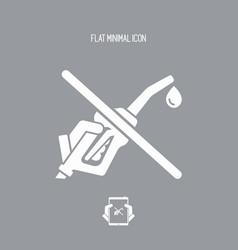 fuel stop - flat icon vector image
