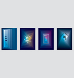 futuristic minimal brochures graphic design vector image