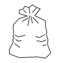Garbage bag icon outline style vector