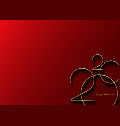 Golden 2020 new year logo with copy space vector