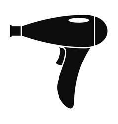 Hair dryer icon simple style vector