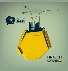 Hi-tech abstract design concept vector