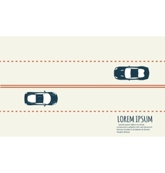 Highway traffic Minimalistic banner vector image