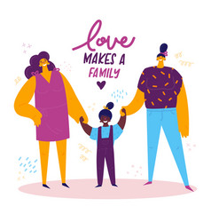 Homosexual female lgbt family vector