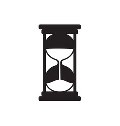 hourglass black silhouette vector image