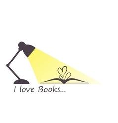 I love books vector image