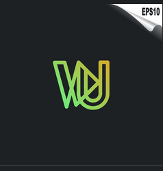 initial vu logo monogram design template simple vector image