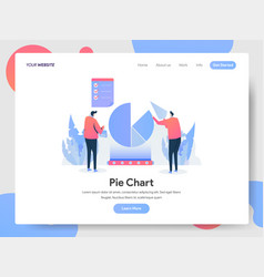 landing page template pie chart concept vector image