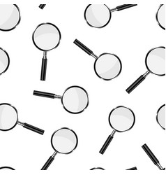 loupe sign icon seamless pattern background vector image