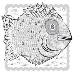 magic fish vector image