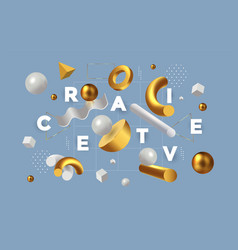 Modern concept be creative 3 vector