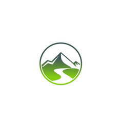 mountain abstract travel logo vector image