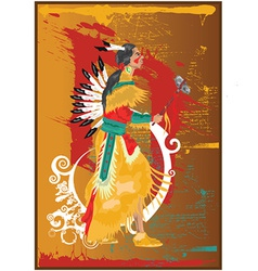 Native american cartoon vector image
