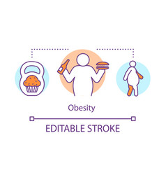 Obesity disease concept icon overweight problem vector