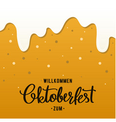 oktoberfest flyer design template beer background vector image
