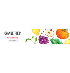 organic shop poster vector image