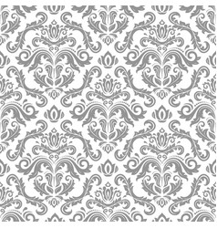Orient seamless silver background vector