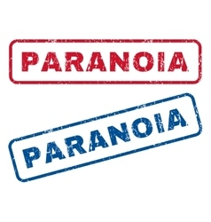 Paranoia Rubber Stamps vector
