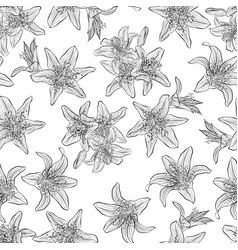 Pattern with lilies vector