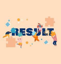 People working on result concept businessmen vector