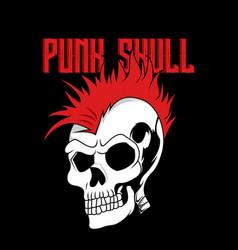 punk skull cartoon vector image